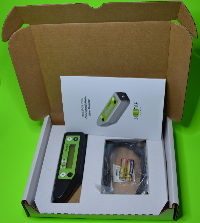 Content of the box: atLEAF CHL PLUS chlorophyll meter, USB cable, batteries,  user manual